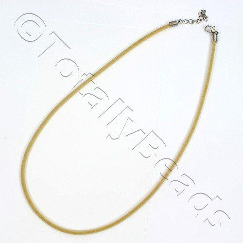 Velour Necklace Cord - Beige