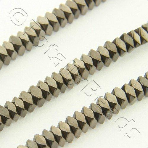 Hematite Facet Square 2x1mm - Coffee Plated