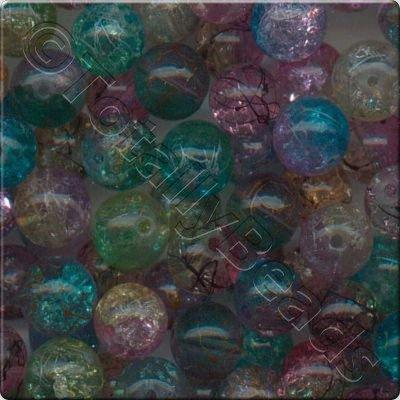 Crackle Silk Mixed - Round 10mm - SALE
