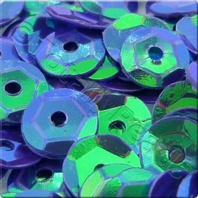 Sequins - 6mm Cup - Opaque Dark Blue AB