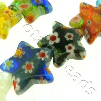 Millefiori - Puff Star 16mm - Mixed