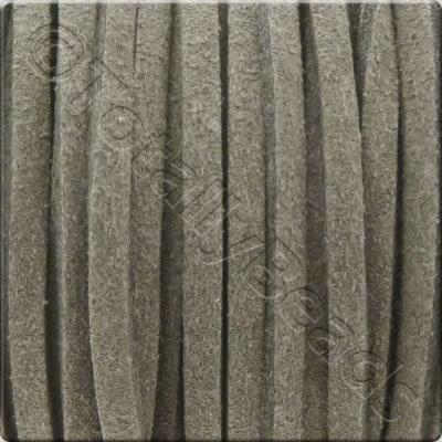 Suede Cord Grey - 3mm - 5m Spool