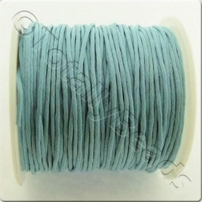 Wax Cotton Cord 1mm - Turquoise