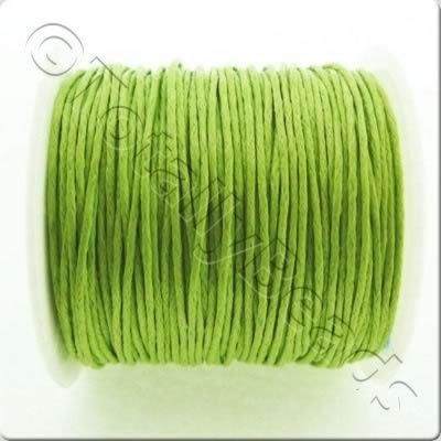 Wax Cotton Cord 1mm - Lime Green