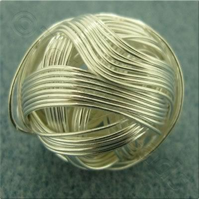 Multi Wire Bead - Round 20mm - Silver