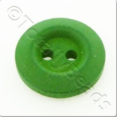 Wooden Button 15mm - Green