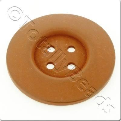 Wooden Button 60mm - Coffee