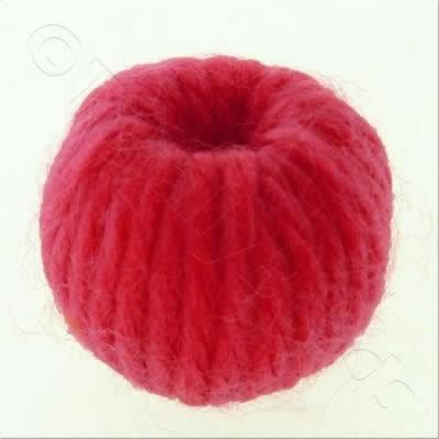 Wool Bead 22mm - Raspberry Red