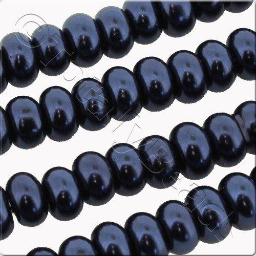 Glass Pearl Rondelle 7x10mm - Colbolt Blue