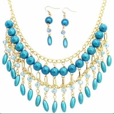 Celeste Necklace Turquoise Gold