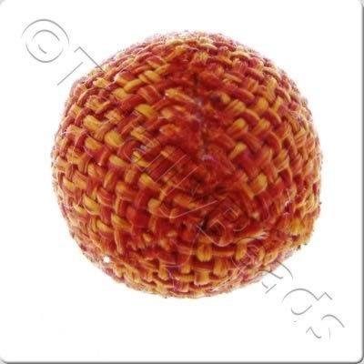 Weaved Hatch Bead - Burnt Orange