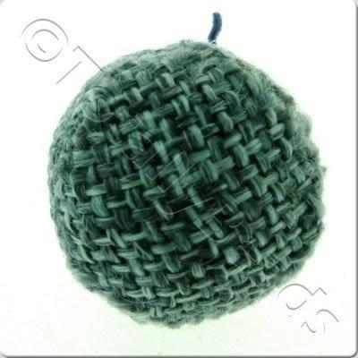 Weaved Hatch Bead - Teal