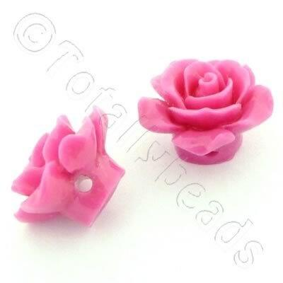 Acrylic Rose 15mm 1 Row - Pink 4pcs