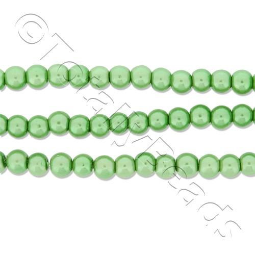 Glass Pearl Round Beads 3mm - Fresh Green
