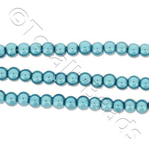 Glass Pearl Round Beads 3mm - Turquoise