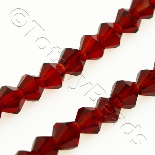 Crystal Bicone 4mm - Red