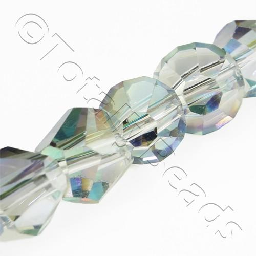 Crystal Bicone 8mm Diagonal - Smoky Rainbow 15pc