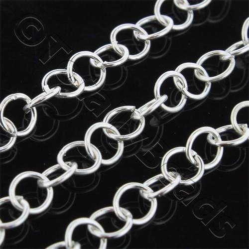 Chain Silver Plated - Round Link 4mm Thin
