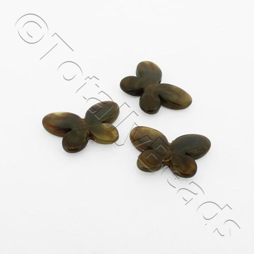 Acrylic Butterflies 20mm - Brown 16pcs