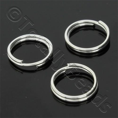 Split Rings 10mm - Silver Plated