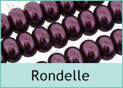 Rondelle Glass Pearls