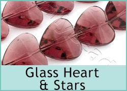 Glass Heart & Star Shapes