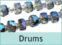 Crystal Drum Beads