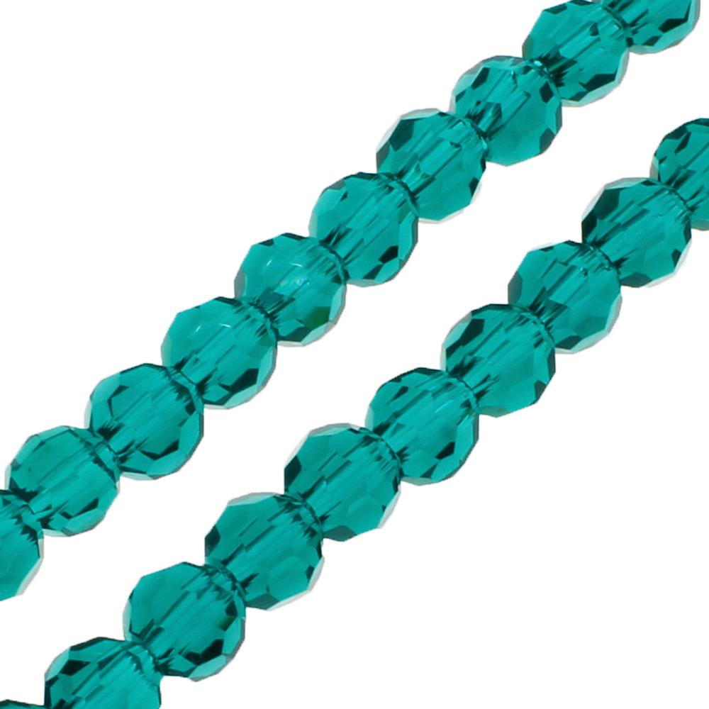 Crystal Round 4mm - Teal