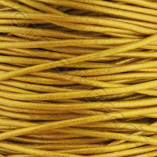 Leather Cord 1.5mm - Antique Yellow 1m length