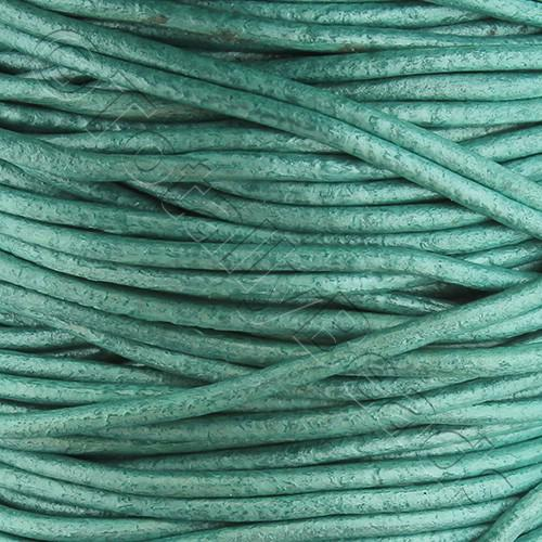 Leather Cord 1.5mm - Sea Foam Green 1m length