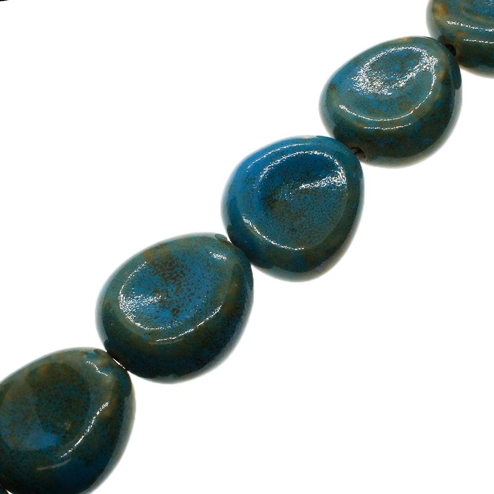 Ceramic Beads - Chips 35mm - Turquoise