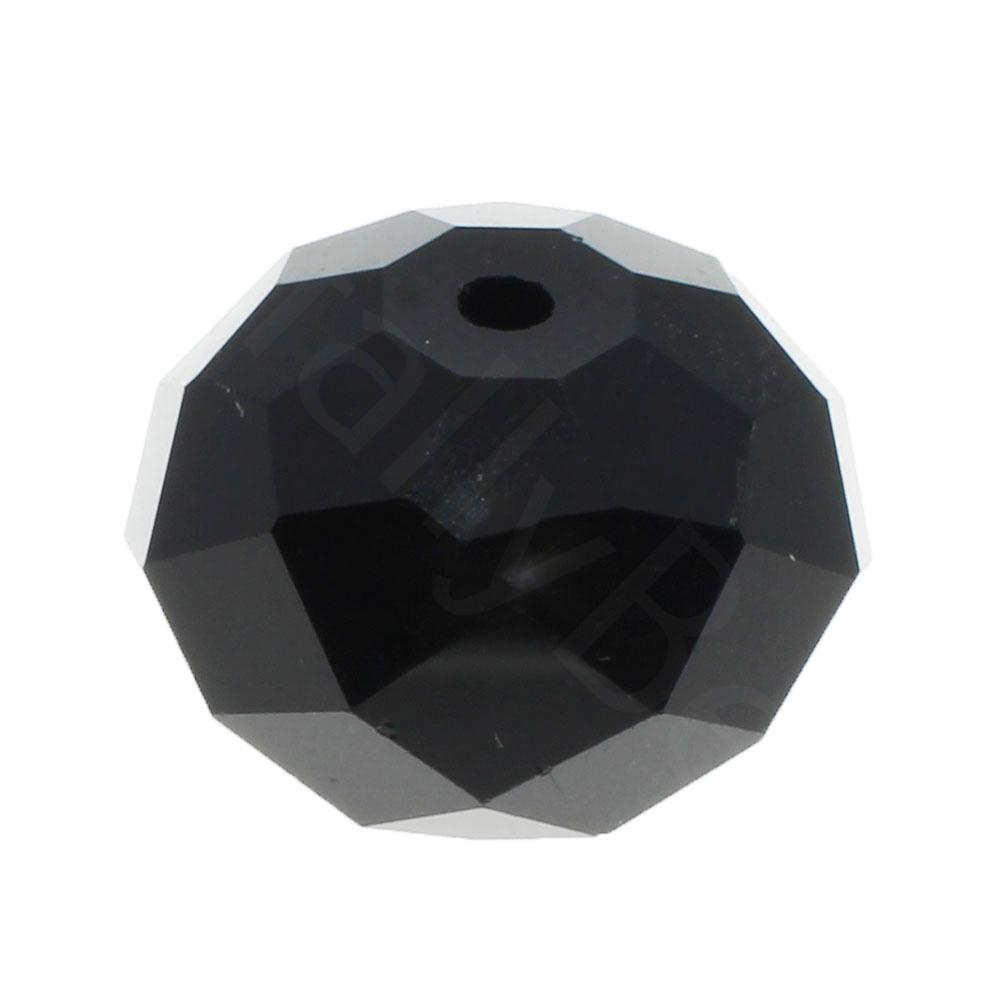 Crystal Rondelle 14x18mm - Jet Black 1pc