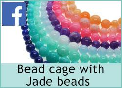 Bead Cage with Graduated Jade beads - 12th July