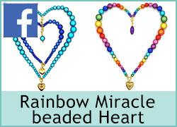 Rainbow Miracle Beaded Heart - 12th February