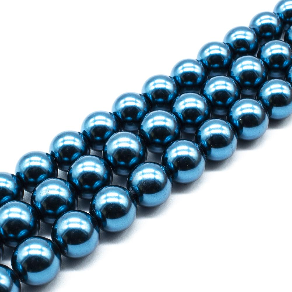 Glass Pearl Round Beads 12mm - Montana