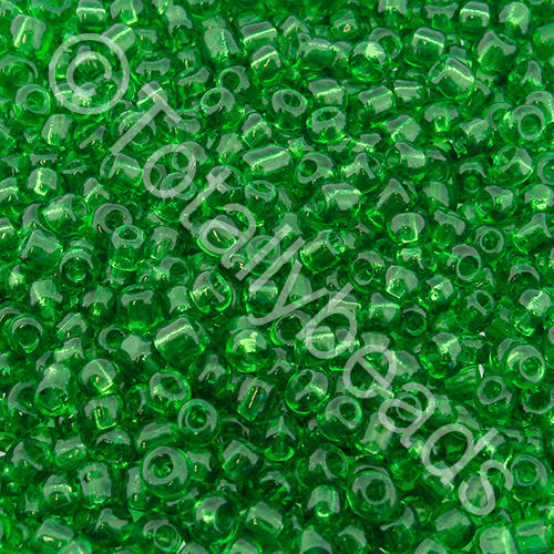 Seed Beads Transparent  Green - Size 11