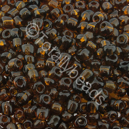 Seed Beads Transparent  Brown - Size 6