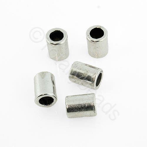 Antique Silver Metal Bead - Tube 6x8mm 20pcs - H287