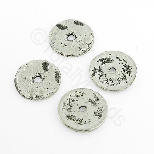 Tibetan Silver Bead - Disc 13mm