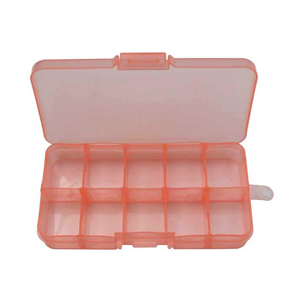 mini storage box 10 compartments orange craft hobby jewellery supplies totally beads. Black Bedroom Furniture Sets. Home Design Ideas