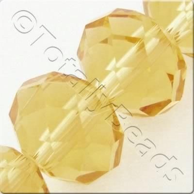 Crystal Rondelle 10x14mm - Light Topaz