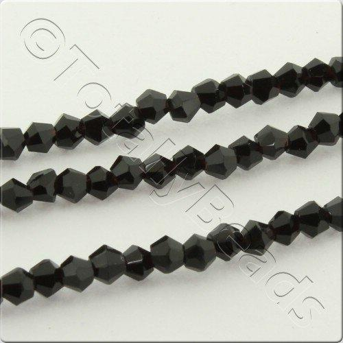 Crystal Bicone 2.5mm - Jet Black