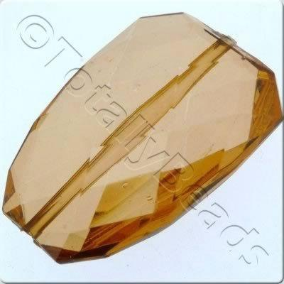Acrylic Facet Rectangle 40mm - Brown