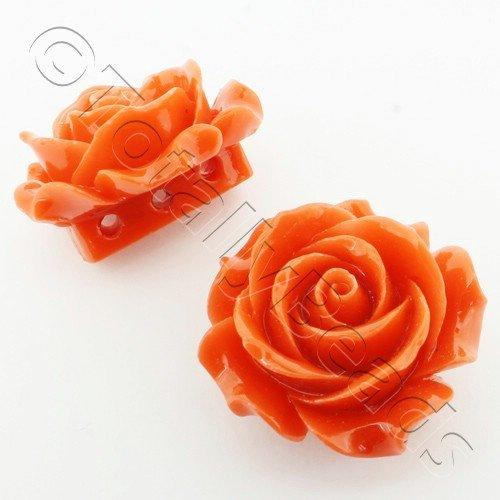 Acrylic Rose 35mm 3 Rows - Orange