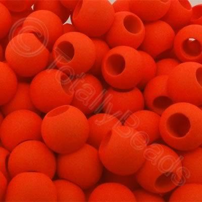 Acrylic Beads 10x8mm - Neon Orange