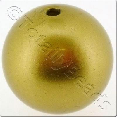 Acrylic Pearl Beads - Round 30mm - Gold