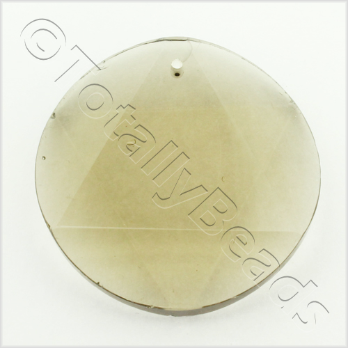 Glass Pendant 6 Point Disc 35mm - Grey