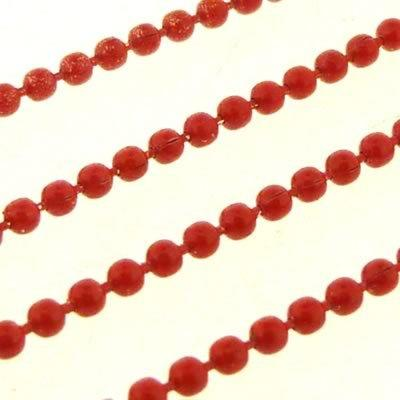 Ball Chain 1.5mm - Red - 1m