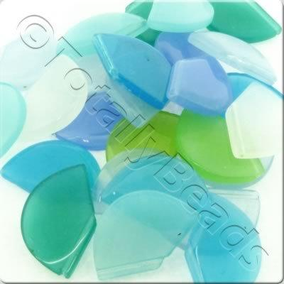 Bead Mix - 22x16mm Semi-Circle Drop Mix - 50g