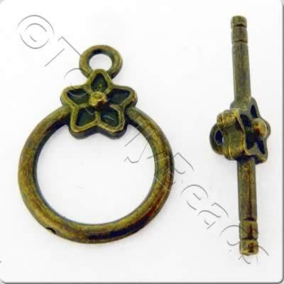 Tibetan Bronze Toggle - Star Ring